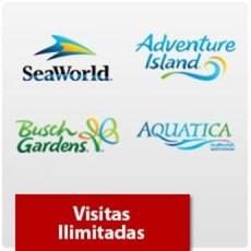SeaWorld Parks - Visitas Ilimitadas - Acima de 3 anos